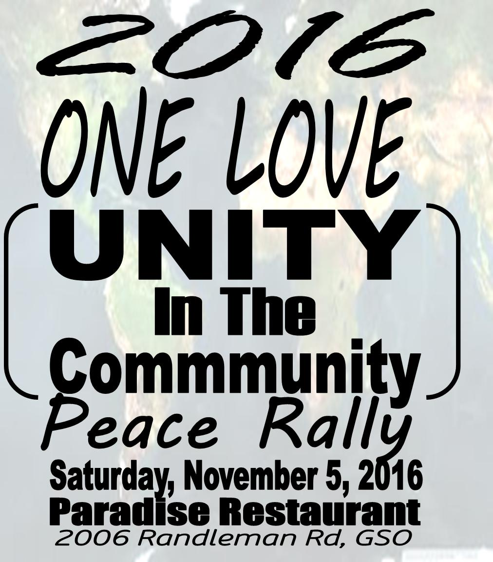 One Love – Unity In the Community Peace Rally